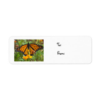 My Monarch Butterfly-christmas label