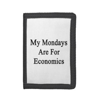 My Mondays Are For Economics Tri-fold Wallets