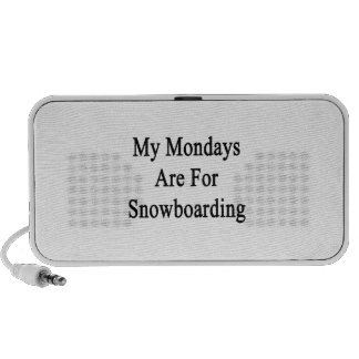 My Mondays Are For Snowboarding Portable Speakers