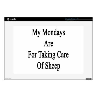 My Mondays Are For Taking Care Of Sheep Decal For Laptop