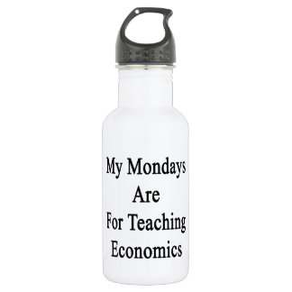 My Mondays Are For Teaching Economics Stainless Steel Water Bottle