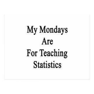My Mondays Are For Teaching Statistics Postcard
