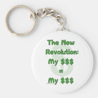 My Money Is Mine Basic Round Button Keychain
