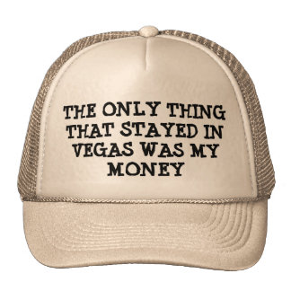 mY mONEY sTAYED iN vEGAS Mesh Hats