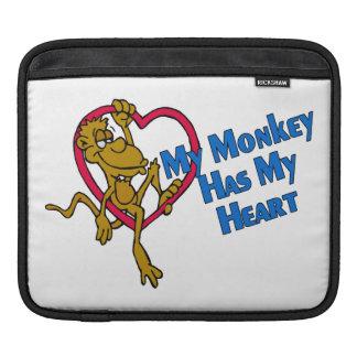 My Monkey Has My Heart iPad Sleeves