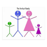 My Monster Family Post Card