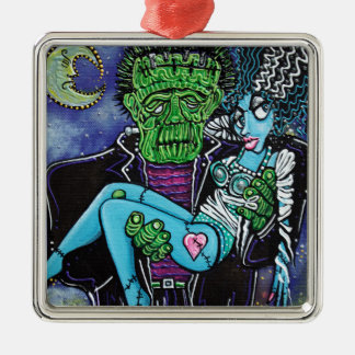 My Monster My Bride Metal Ornament