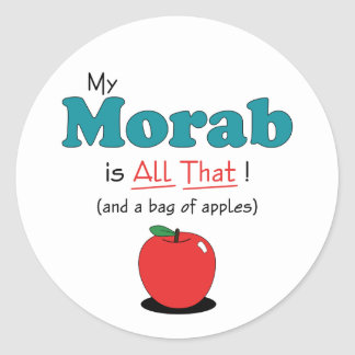 My Morab is All That Funny Horse Round Stickers