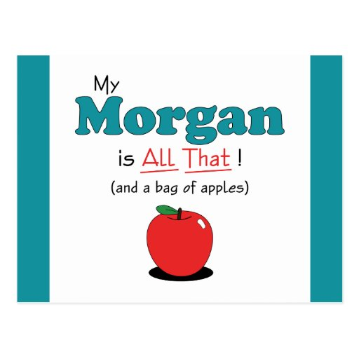 My Morgan is All That! Funny Horse Postcard