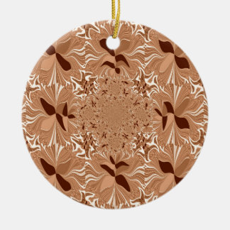 My Morning Coffee Colors Double-Sided Ceramic Round Christmas Ornament