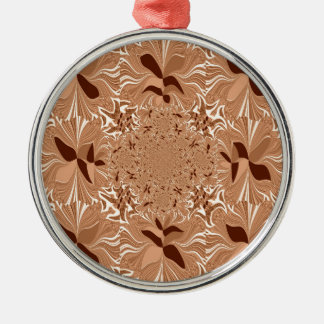 My Morning Coffee Colors Round Metal Christmas Ornament