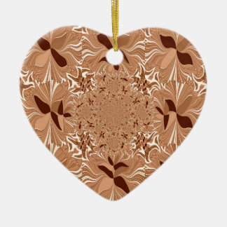 My Morning Coffee Colors Double-Sided Heart Ceramic Christmas Ornament