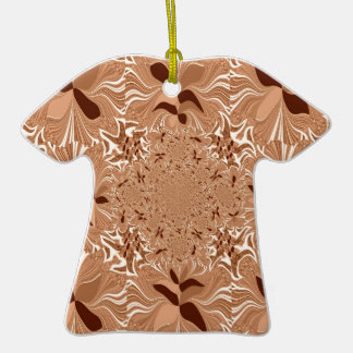 My Morning Coffee Colors Double-Sided T-Shirt Ceramic Christmas Ornament