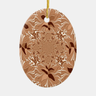 My Morning Coffee Colors Double-Sided Oval Ceramic Christmas Ornament