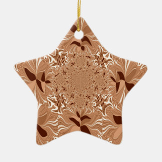 My Morning Coffee Colors Double-Sided Star Ceramic Christmas Ornament