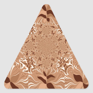 My Morning Coffee Colors Triangle Sticker