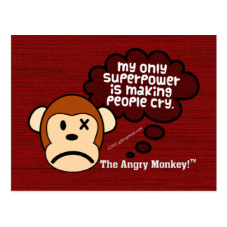My most powerful superpower is making people cry postcard