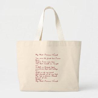 My Most Precious Friend Poem Canvas Bags
