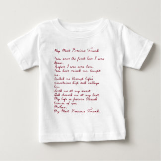 My Most Precious Friend Poem T Shirt