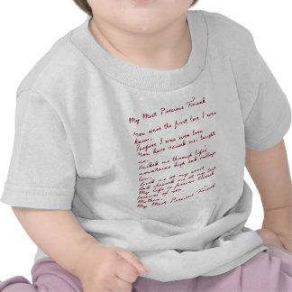 My Most Precious Friend Poem Shirts