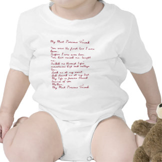 My Most Precious Friend Poem Rompers