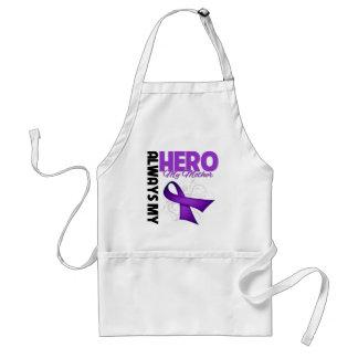My Mother Always My Hero - Purple Ribbon Aprons