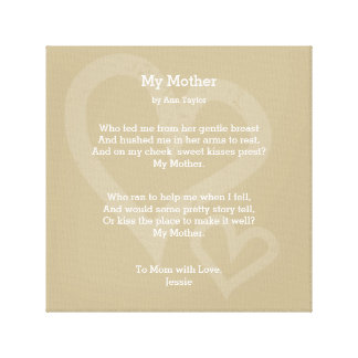 My Mother Canvas Wall Art Print