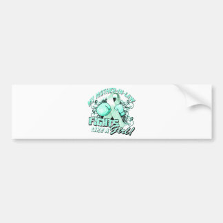 My Mother In Law Fights Like A Girl (T) teal Bumper Sticker