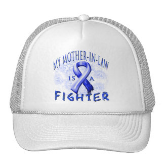 My Mother-In-Law Is A Fighter Blue Trucker Hat