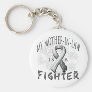 My Mother-In-Law Is A Fighter Grey Keychain