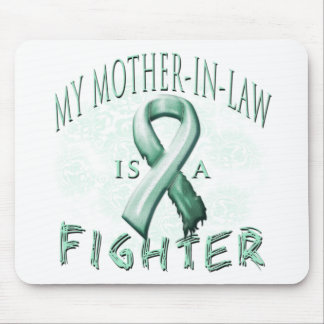 My Mother-In-Law is a Fighter Teal Mouse Pad