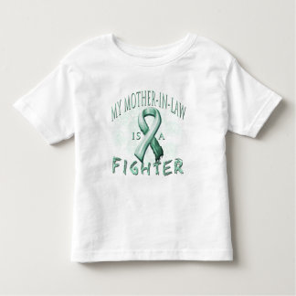 My Mother-In-Law is a Fighter Teal T-shirt