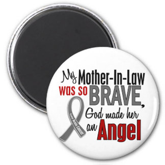 My Mother-In-Law Is An Angel 1 Brain Cancer 2 Inch Round Magnet