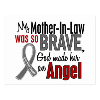 My Mother-In-Law Is An Angel 1 Brain Cancer Postcard