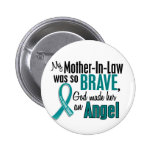 My Mother-In-Law Is An Angel 1 Ovarian Cancer Buttons