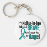 My Mother-In-Law Is An Angel 1 Ovarian Cancer Keychain