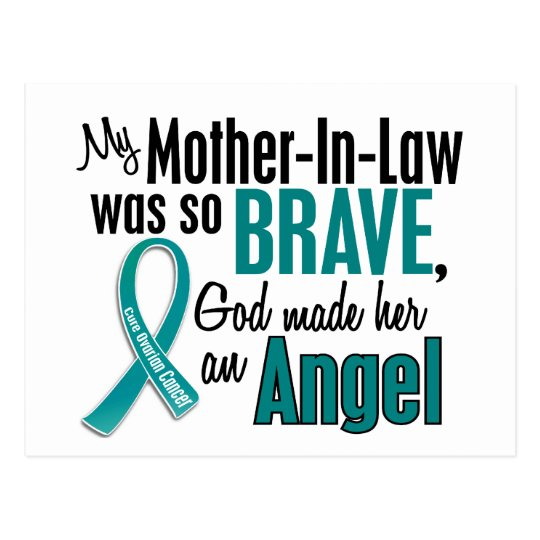 My Mother-In-Law Is An Angel 1 Ovarian Cancer Postcard