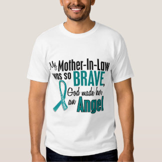 My Mother-In-Law Is An Angel 1 Ovarian Cancer T Shirt