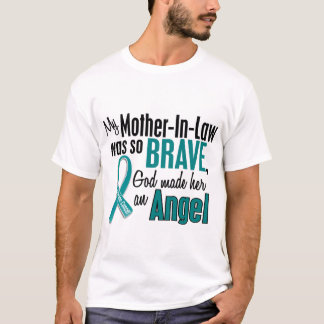 My Mother-In-Law Is An Angel 1 Ovarian Cancer T-Shirt