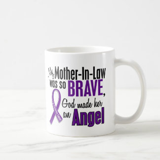 My Mother-In-Law Is An Angel Pancreatic Cancer Classic White Coffee Mug