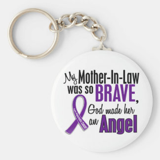 My Mother-In-Law Is An Angel Pancreatic Cancer Keychain