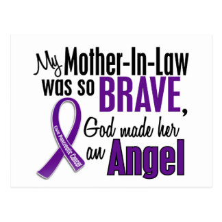 My Mother-In-Law Is An Angel Pancreatic Cancer Postcard