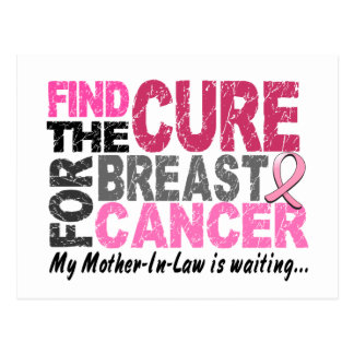 My Mother-In-Law is Waiting Breast Cancer Postcard