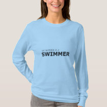 MY MOTHER IS A SWIMMER/GYNECOLOGIC-OVARIAN CANCER T-Shirt