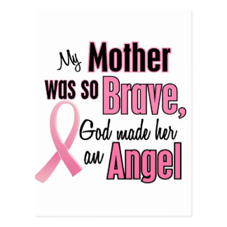 My Mother Is An Angel Breast Cancer Postcard