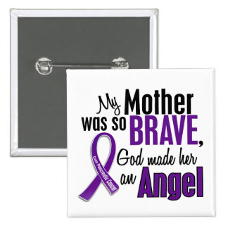 My Mother Is An Angel Pancreatic Cancer 2 Inch Square Button
