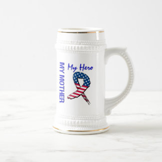 My Mother My Hero Patriotic Grunge Ribbon Beer Stein