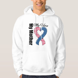 My Mother My Hero Patriotic USA Ribbon Hooded Pullover