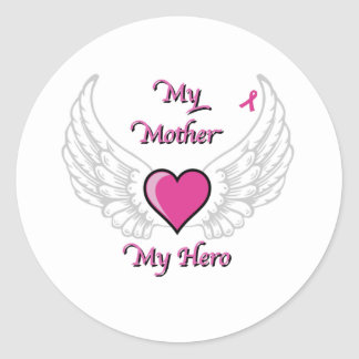 My Mother My Hero Wings and Heart 2 Classic Round Sticker