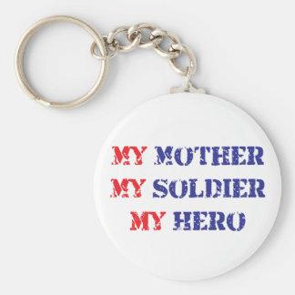 My mother, my soldier, my hero basic round button keychain